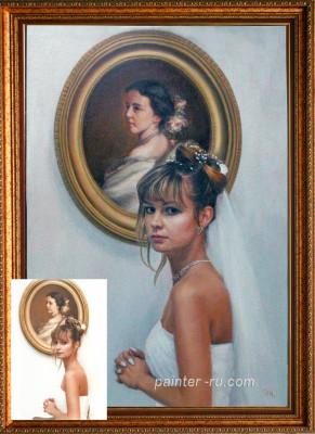 Портрет маслом на холсте. Заказать портрет.