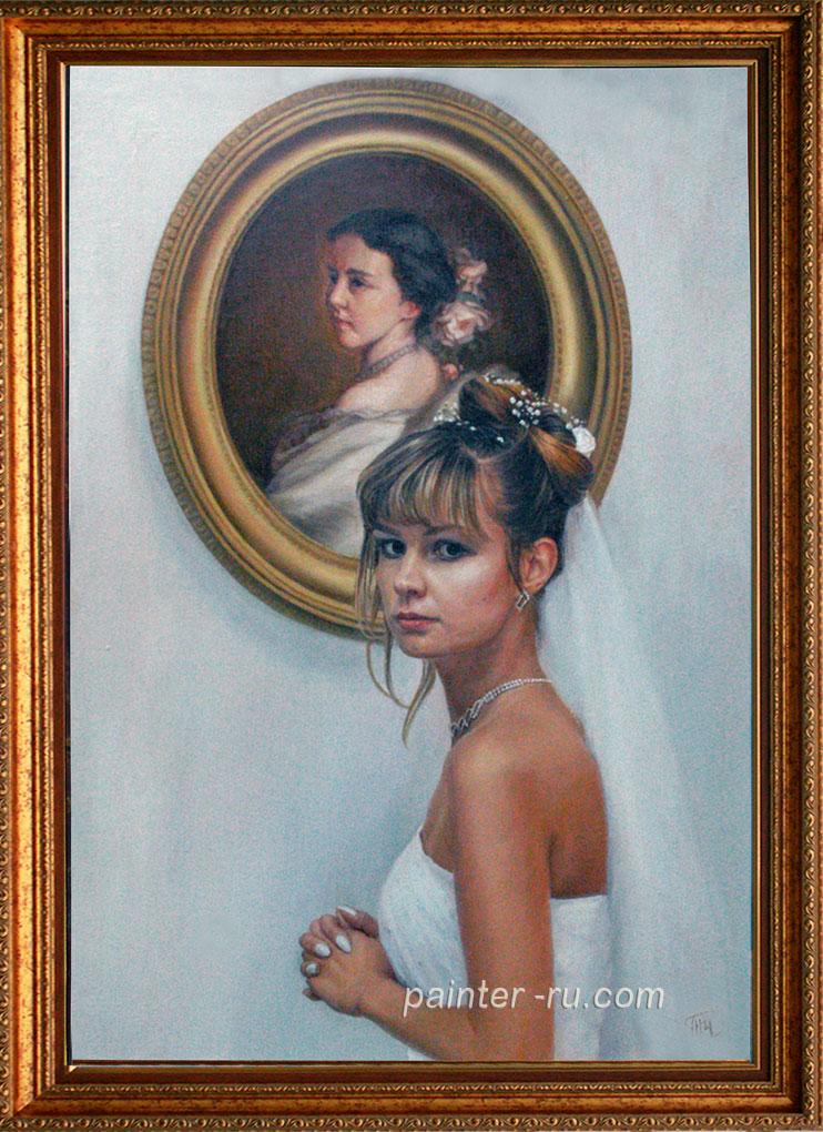 портрет маслом на холсте на заказ.портрет по фотографии.