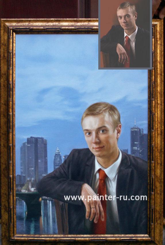 портрет холст масло на заказ. портрет по фотографии.