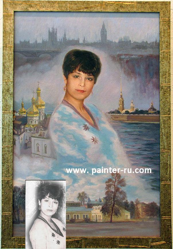 портрет маслом на заказ портрет по фотографии.