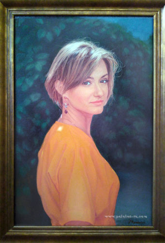 портрет на заказ, живопись, холст-масло..