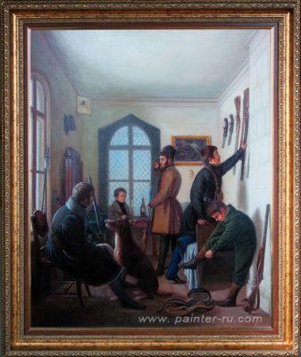 Копия классической живописи на заказ. Сцены охоты.