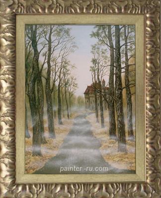 пейзаж маслом на холсте. картина в подарок.